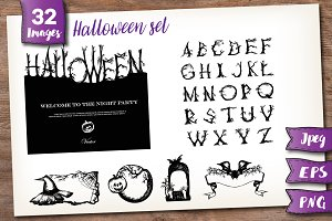 Halloween set + Letters