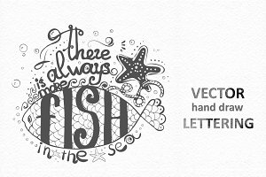 Vector Lettering. Hand- drawn