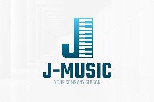 Music - Letter J Logo Template