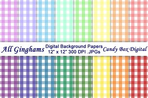 All Gingham Digital Background Paper