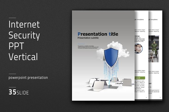 Internet security PPT Vertical