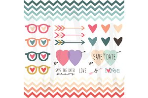 Retro Wedding Valentine's Design