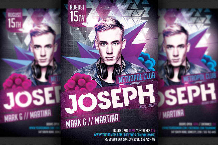 Guest dj party flyer template flyer templates creative market pro guest dj party flyer template saigontimesfo