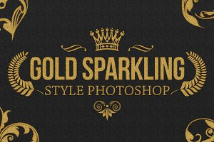 36 Gold Sparkling Style Photoshop