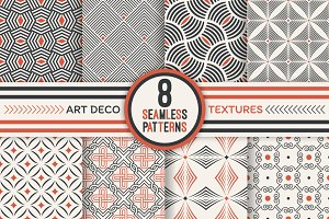 Art deco seamless backgrounds