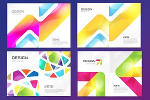 Vector flyer design template