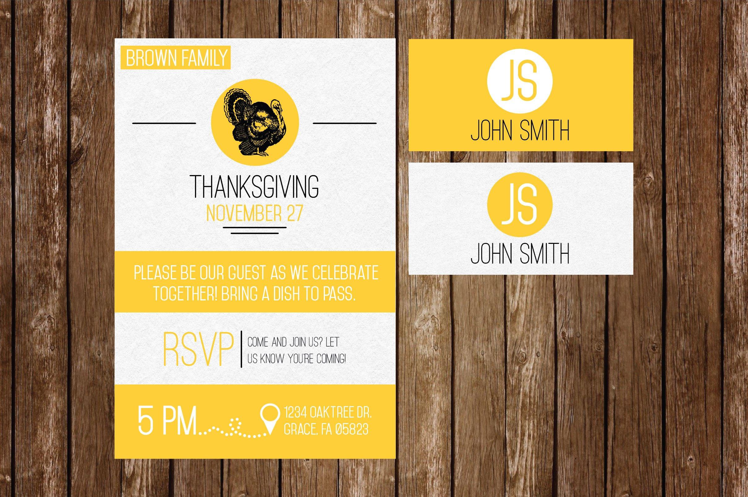 thanksgiving invite placecards invitation templates creative