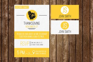 Thanksgiving Invite & Placecards
