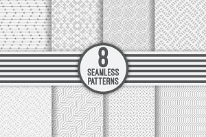 Modern geometric seamless patterns