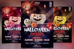 Halloween Dream - PSD Flyer