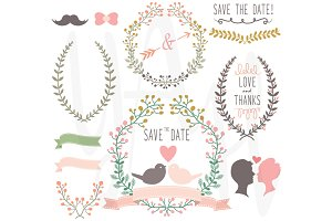 Wedding Laurels clip art