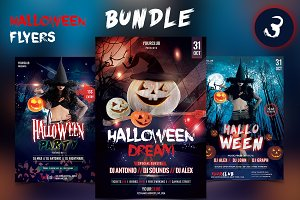 Halloween Flyers - Bundle
