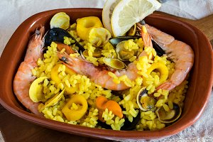 Rice with seafood