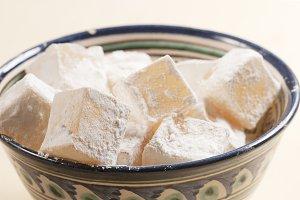 Lukum (Turkish Delight) in a bowl