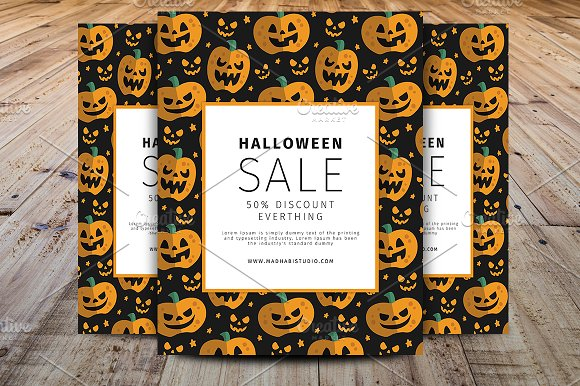 halloween promotion sell offer flyer flyer templates creative market