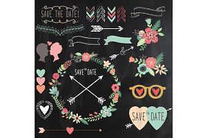 Chalkboard Retro Wedding design