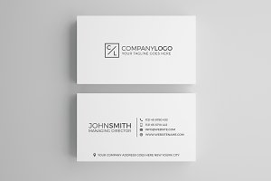 Minimal Modern Business Card Design