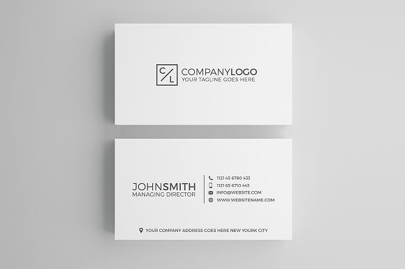 Minimal modern business card design business card for Avery template 8695
