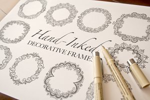 Hand-Inked Decorative Frames