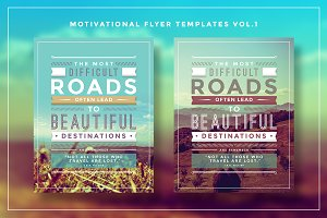 Typography Motivational Flyer Vol.1