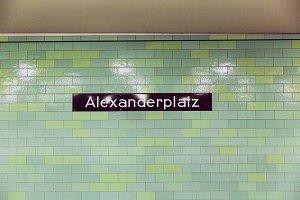 Metro Station Alexanderplatz Berlin