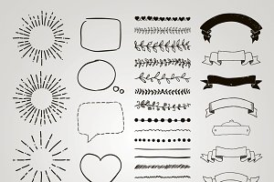 Separate PNG and Vector Elements