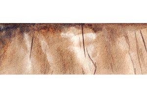 Watercolor brown wood texture