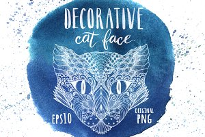 Decorative cat face
