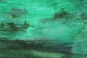 Watercolor dark green texture vector