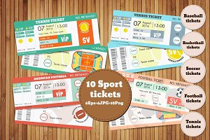 Set of sport vector tickets