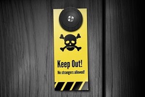 Keep Out! Door Hangers