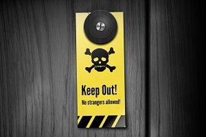 Keep Out! Door Hangers
