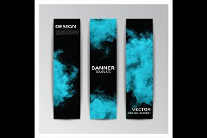 Vector banner with smoky shapes
