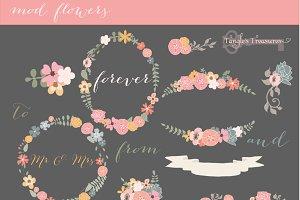 Mod Flowers in Pastel