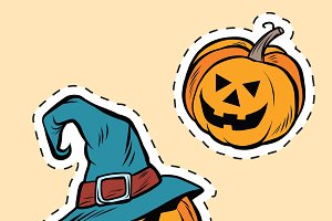stickers Halloween evil pumpkin