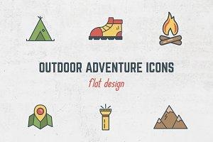 Outdoor Adventure Flat Icons