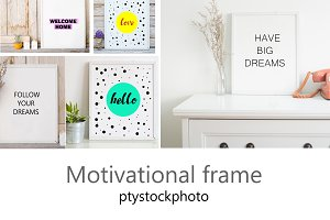 frame with quote  jgp.