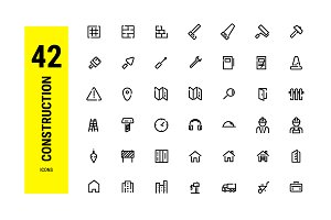 Construction Outline icons design