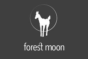 Deer / Moon / Forest Logo