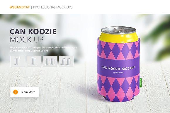 can koozie mock up product mockups creative market