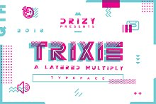 Trixie | A Layered Multiply Typeface