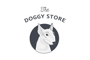 Dog Illustration Logo
