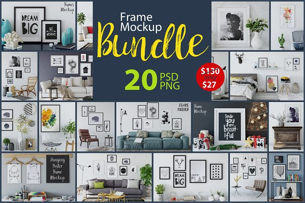 Frame Mockup Bundle Vol 1