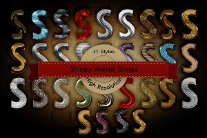 Shiny Metals Photoshop Styles