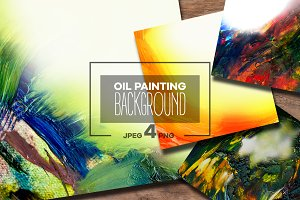 Oil Painting Abstract Background