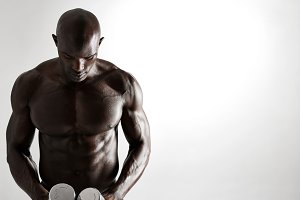 African male bodybuilder