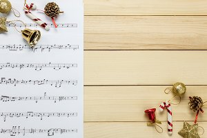 Christmas decoration with music note
