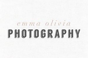 Emma Olivia Premade Logo Template