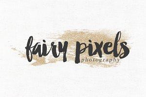 Fairy Pixels Premade Logo Template