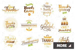 Thanksgiving day typography